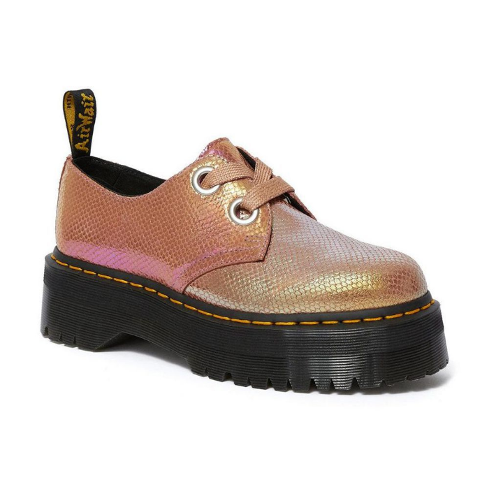 pink low cut doc martens iridescent 1460 pascal and holly boots