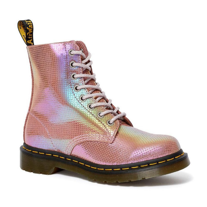pink variant doc martens iridescent 1460 pascal and holly boots