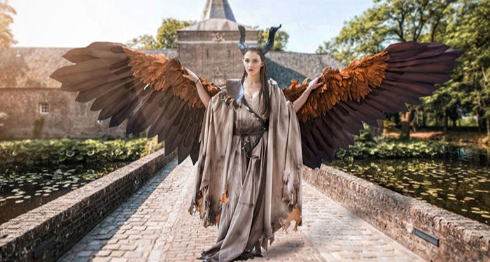 Drisana Litke Creates The Ultimate Set Of Moving Wings For Her