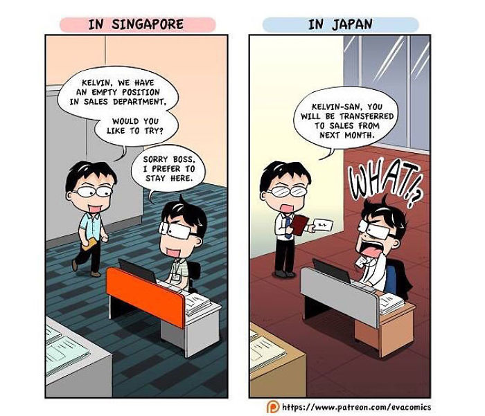 promotion at work comics japan cultural differences by evacomics