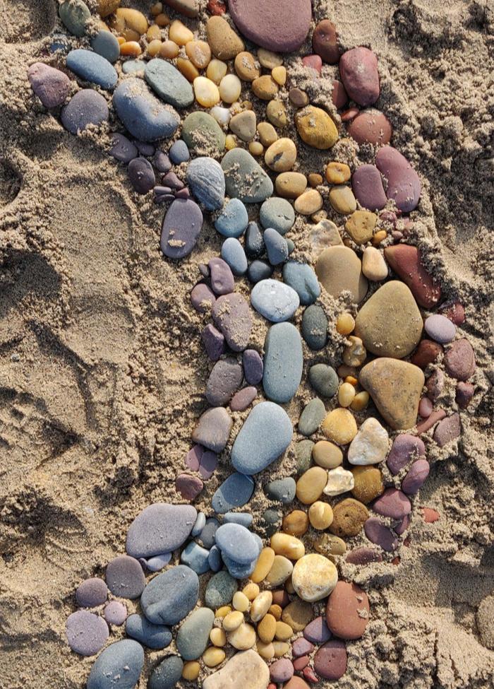 rarinbow stones - interesting beach things
