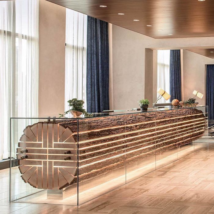 reception desk at hotel unique furniture designs