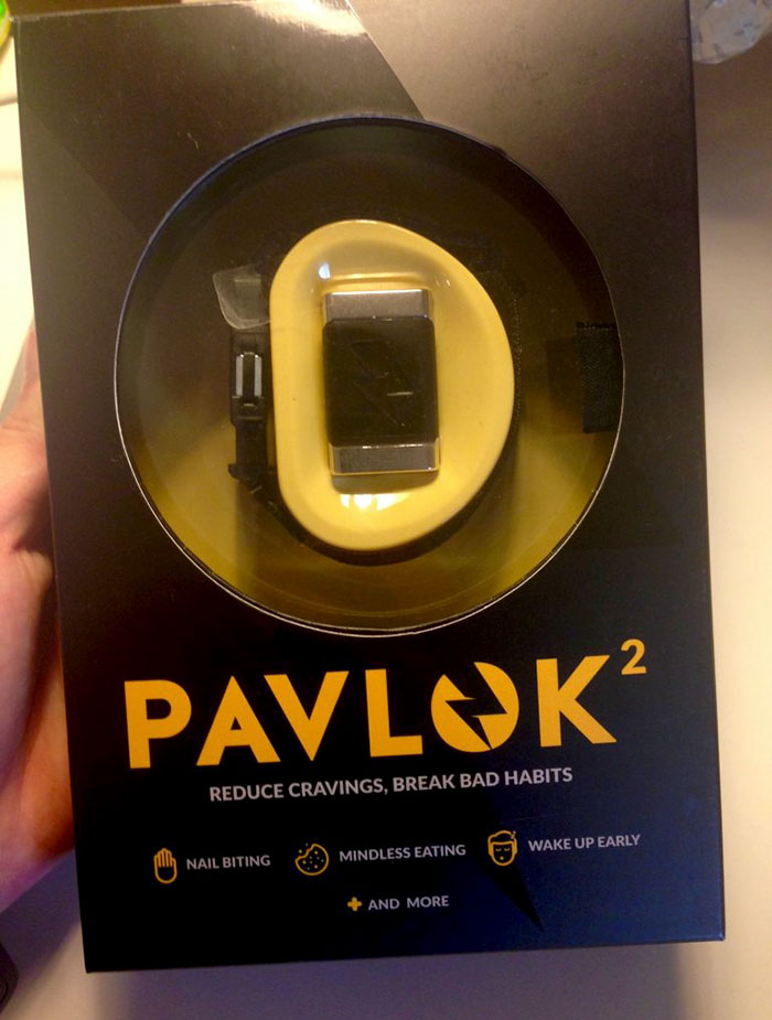 reduce cravings bracelet shock fast food spending money pavlok