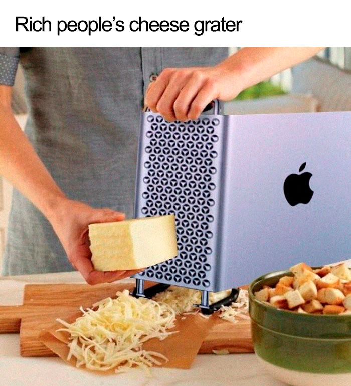rich people cheese grater mac pro