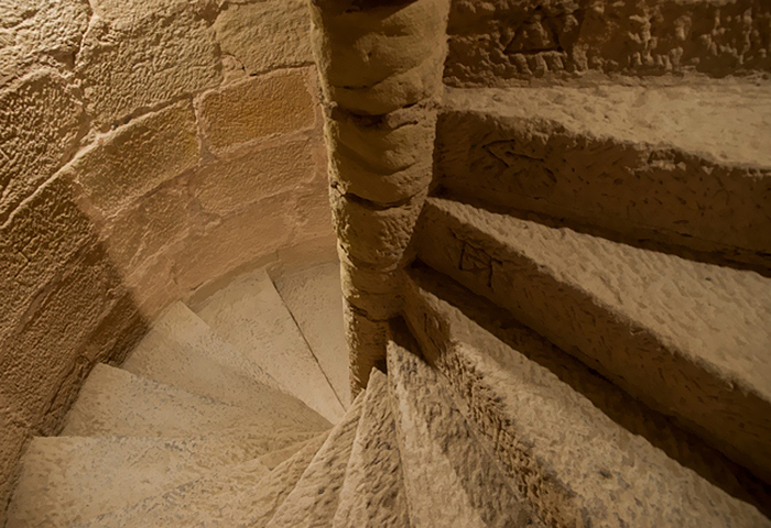 right-side spiral staircase