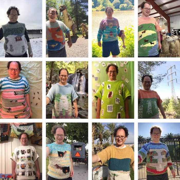 sam barsky postcard sweaters collection