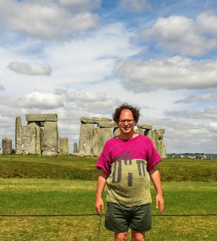 sam barsky postcard sweaters stonehenge