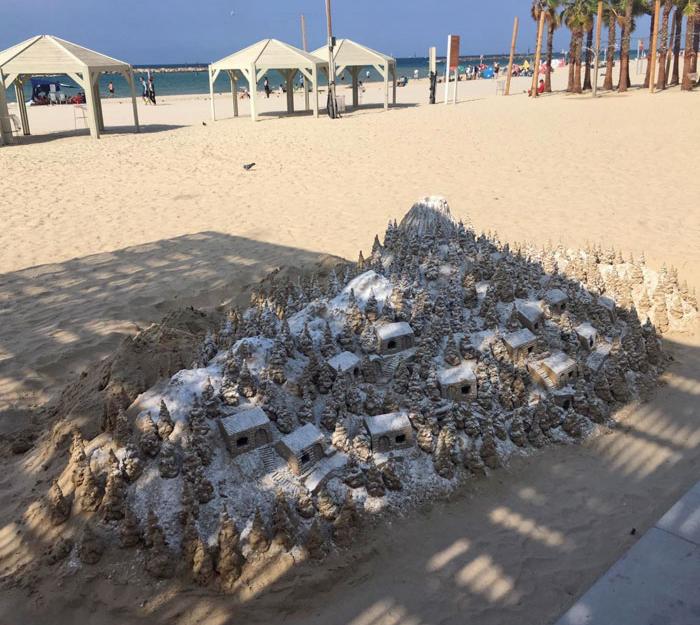 sandcastle in tel aviv - interesting beach things