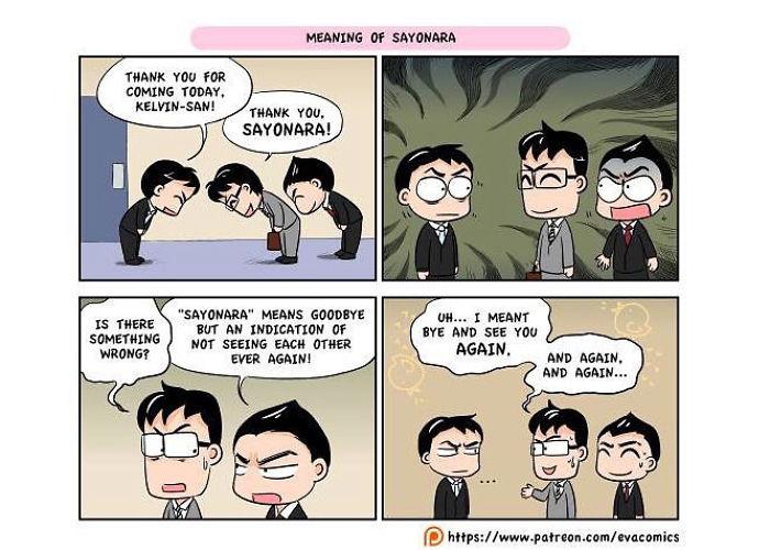 sayonara comics japan cultural differences by evacomics