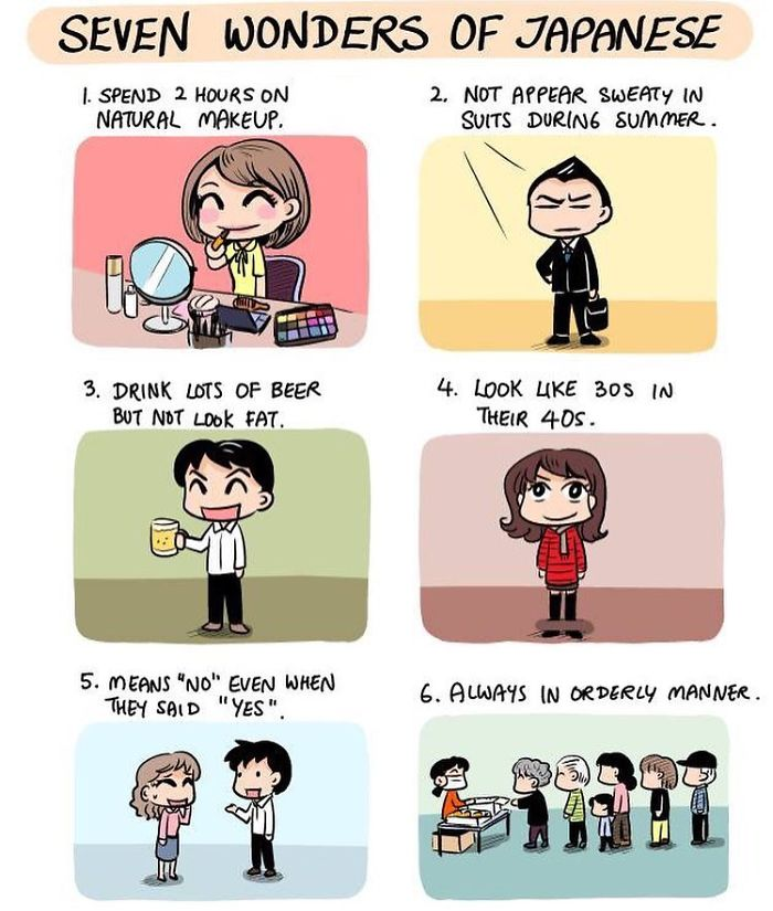 seven wonders of japanese comics japan cultural differences by evacomics