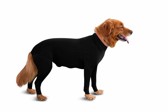 shed defender dog onesie black