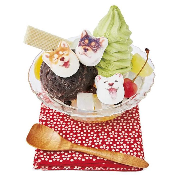 shiba inu marshmallows dessert