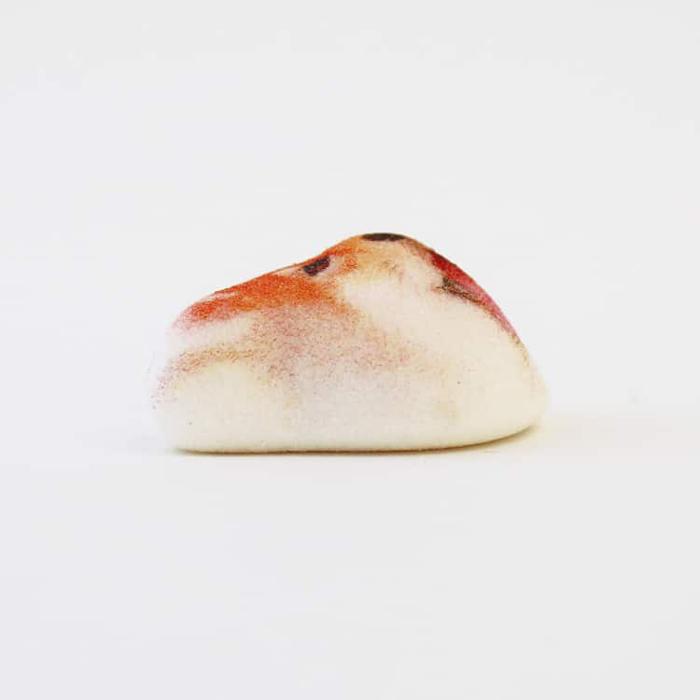 shiba inu marshmallows side view