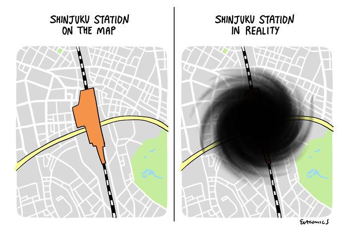shinjuku station comics japan cultural differences by evacomics