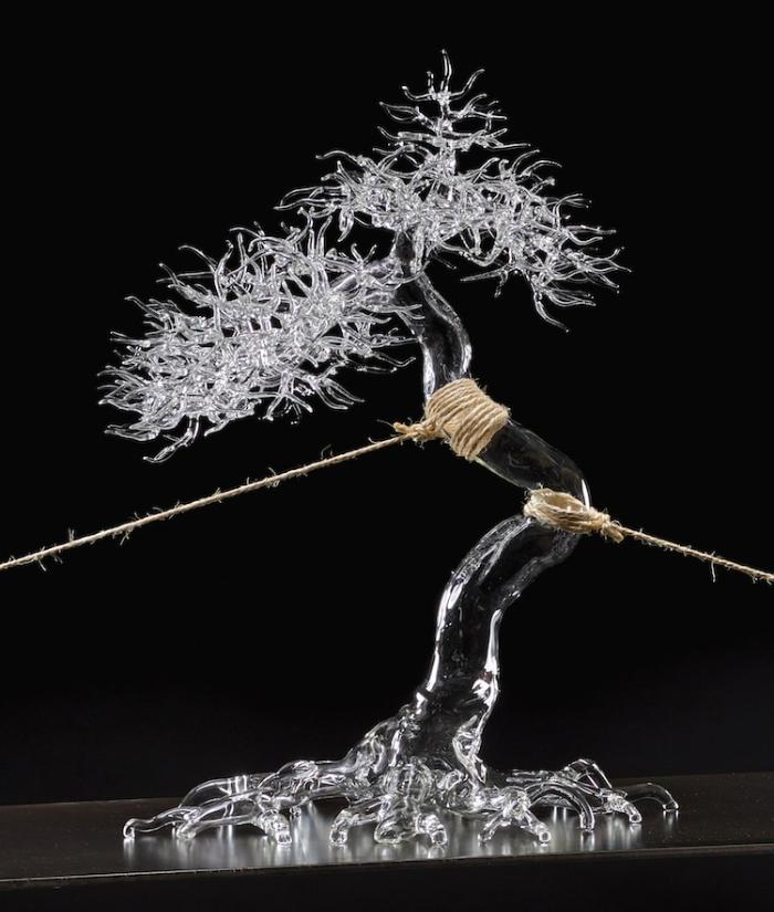 simone crestani blown glass sculptures bonsai pulled