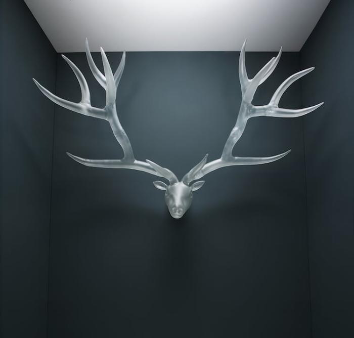 simone crestani blown glass sculptures goat head