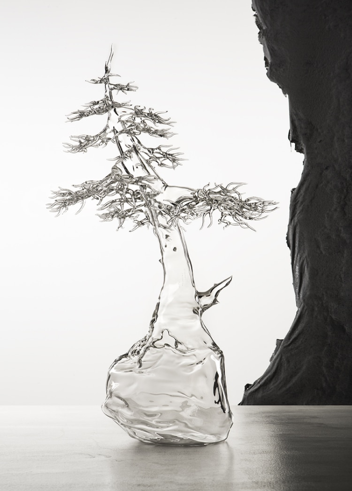 simone crestani blown glass sculptures one tree