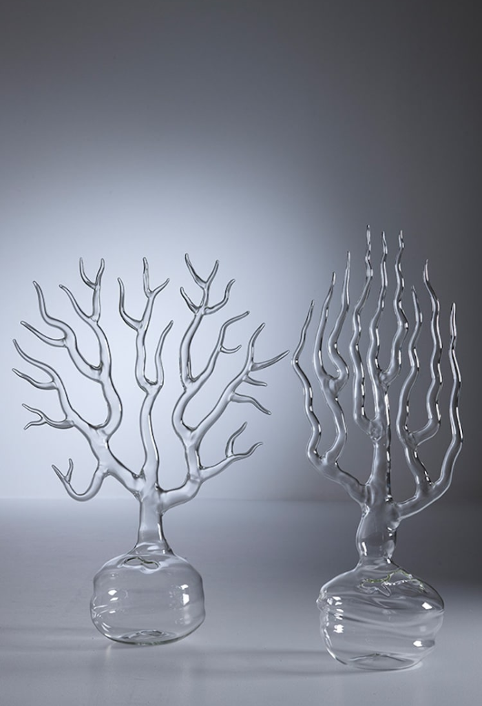simone crestani blown glass sculptures two trees