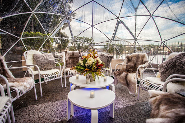 sit with friends clear greenhouse dome garden igloo