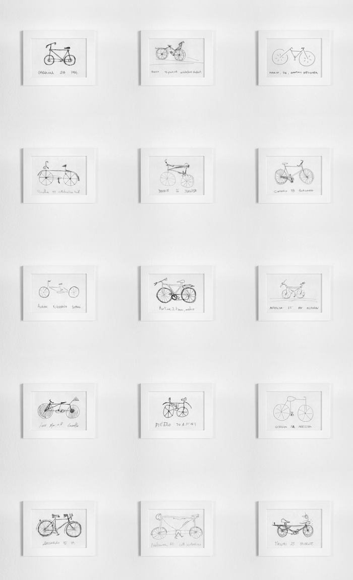 sketches by passersby gianluca gimini velocipedia bicycles