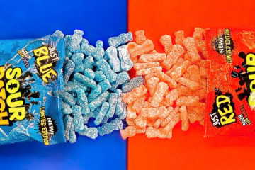 sour patch kids just blue just red candy bags favorite flavor