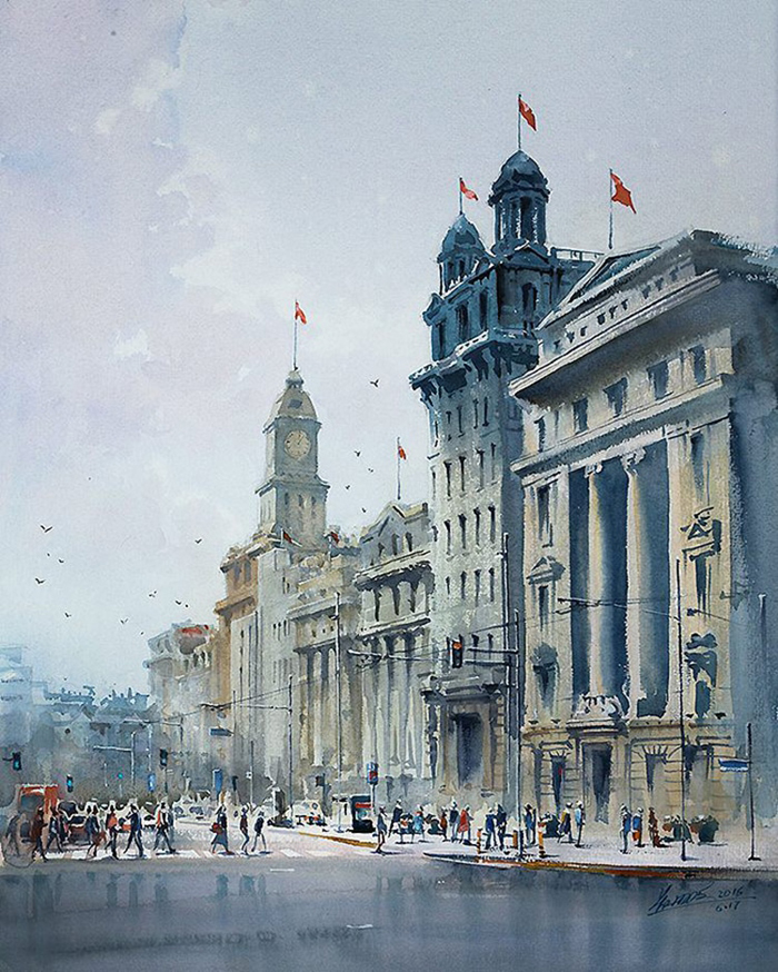 spectacular watercolor paintings famous cities