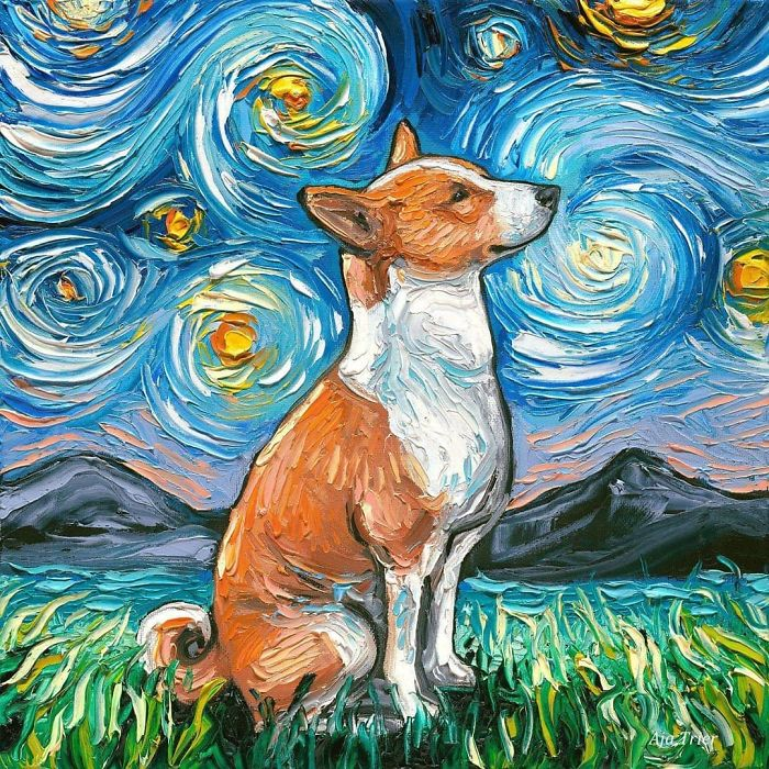 starry night dog series aja trier mountains