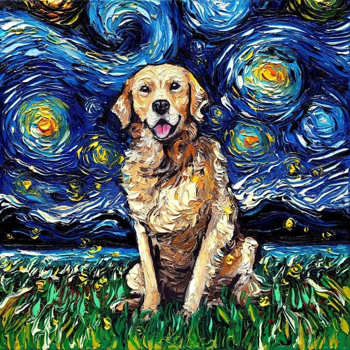 starry night dog series aja trier