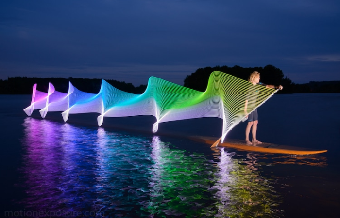 stephen orlando kayak light paintings