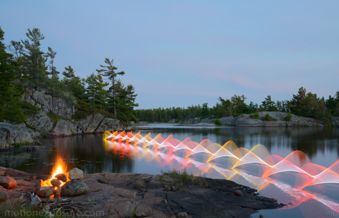 stephen orlando kayak light paintings nature view