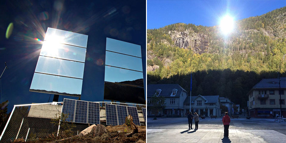 Norwegian Town Rjukan Is Known For Having Limited Sunlight