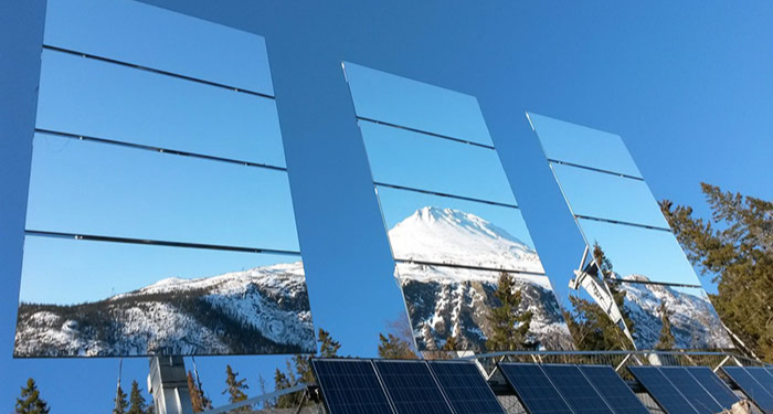 sun mirrors in Rjukan Norway