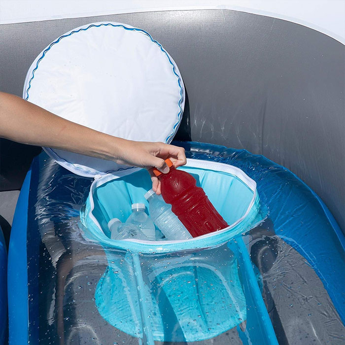 sunpleasureinflatable inflatable speedboat built-in cooler