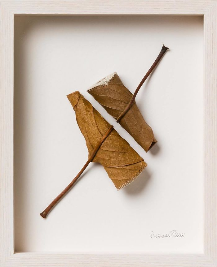 susanna bauer dried leaves crochet art flow