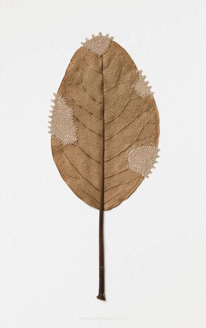 susanna bauer dried leaves crochet art restoration v
