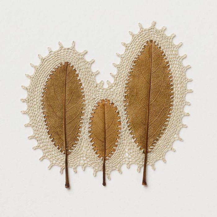 susanna bauer dried leaves crochet art union