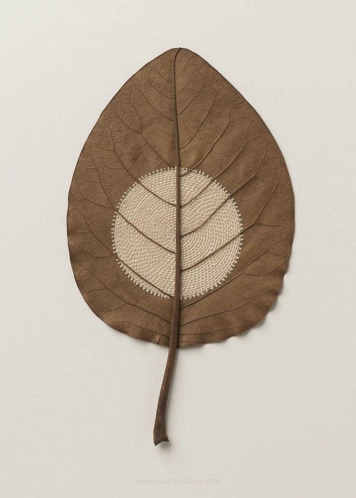 susanna bauer dried leaves crochet moon xxxii
