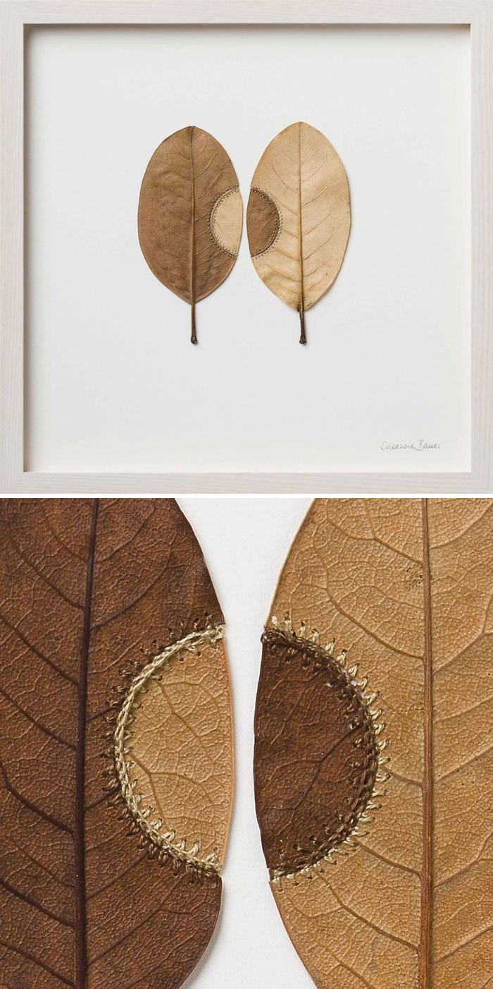 susanna bauer dried leaves crochet trans-plant number 21