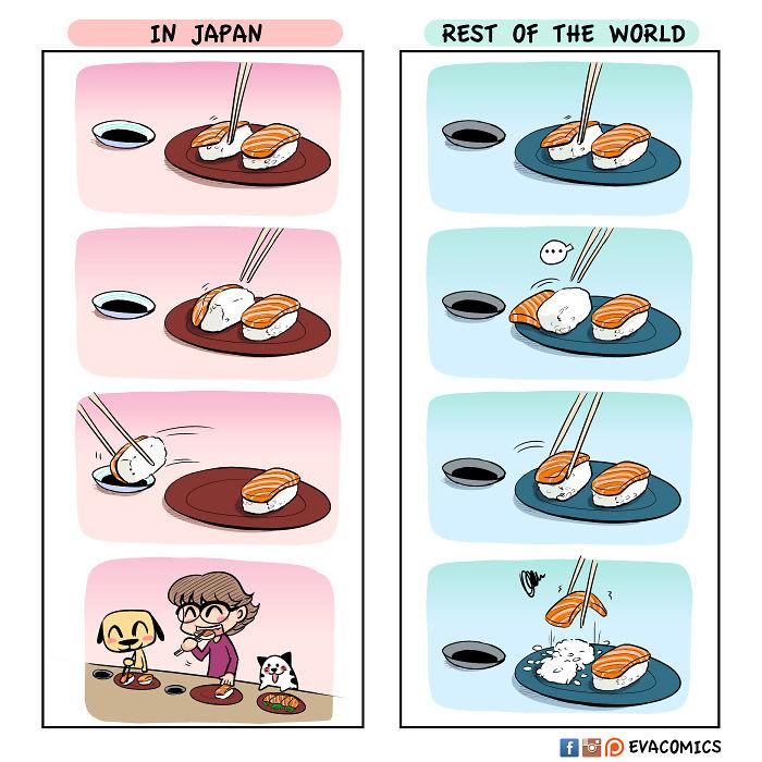 sushi rice comics japan cultural differences by evacomics