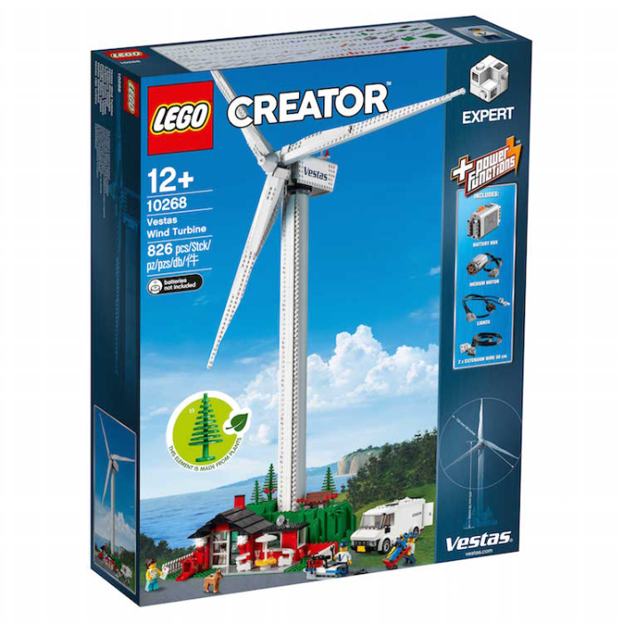 sustainable LEGO expert creator wind turbine kit