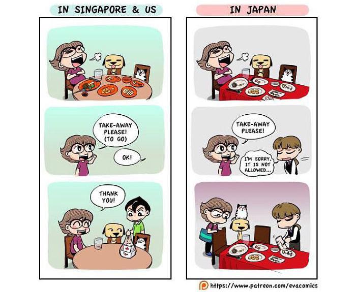 takeaway comics japan cultural differences by evacomics