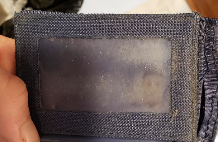 things worn down by time license photo wallet