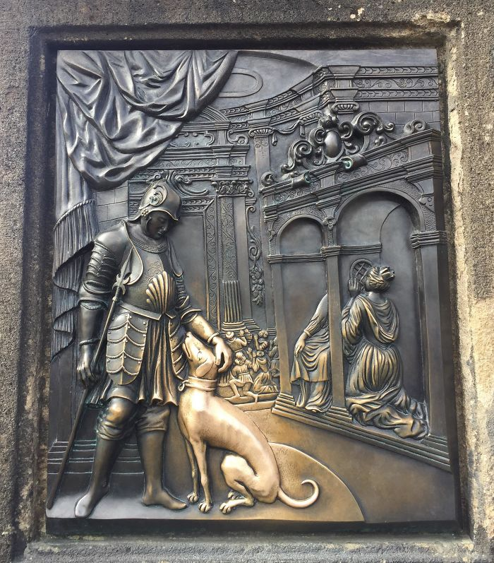 things worn down by time prague relief dog