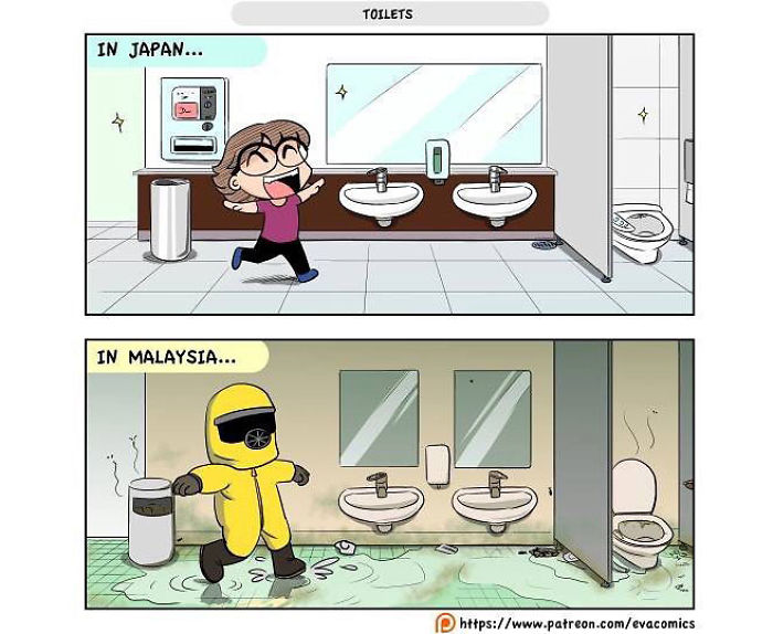 toilets comics japan cultural differences by evacomics