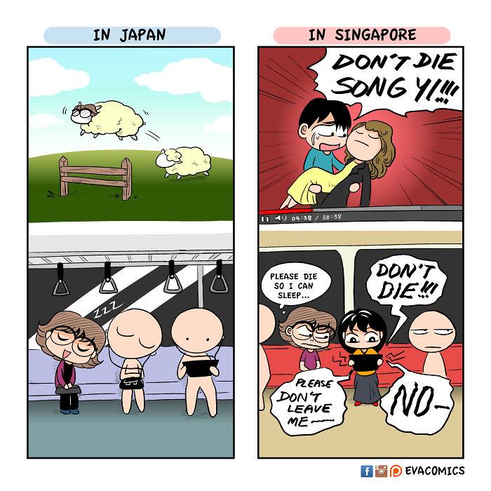 train etiquette comics japan cultural differences by evacomics