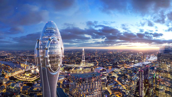 tulip-shaped observation tower london