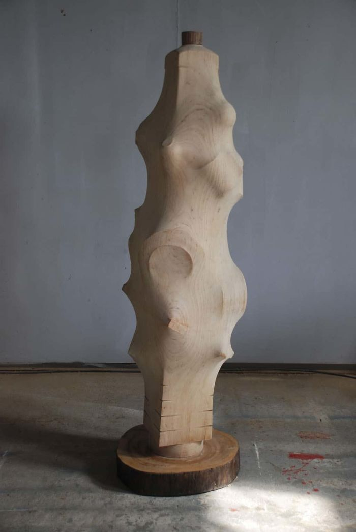 tung ming chin amazing wood sculptures between round and square creation