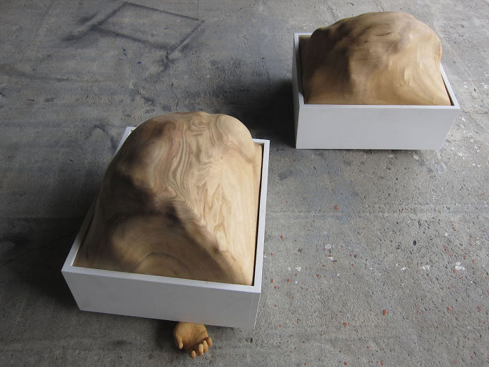 tung ming chin amazing wood sculptures breath