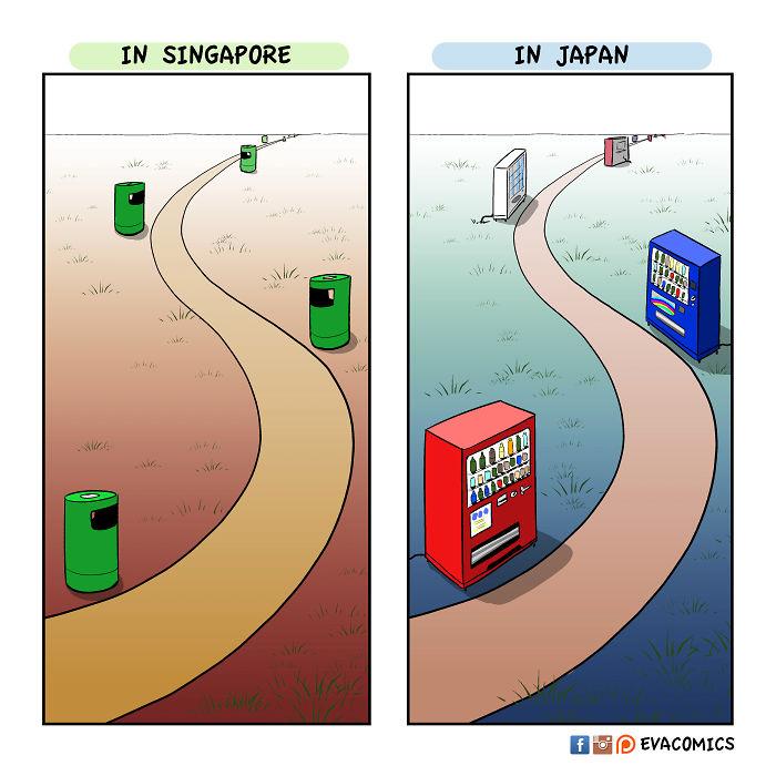 vending machines comics japan cultural differences by evacomics