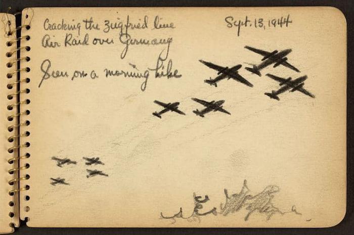 victor lundy air raid war sketchbooks